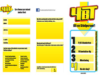 Brochure for 4BT, works as a sign-up form