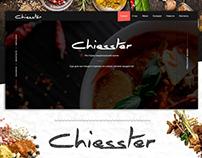 Design corporate site catalog of European cuisine with