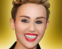 WIP - Miley Cyrus - Digital Painting - Photoshop