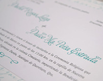 Diseño de invitacion de boda Dulce & David