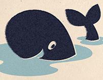 A kid whale.