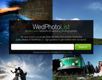 WedPhotoList - Homepage Design