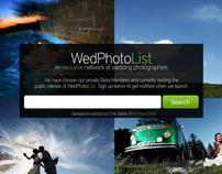 WedPhotoList - Homepage Design