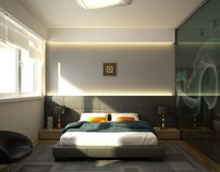 Bedroom and living room.