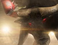 Bull fight back