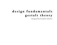 Design Fundamentals - Gestalt Theory