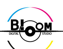 Concept board logotype for a digital studio production
