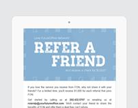 Refer-A-Friend // Email Marketing & Postcard