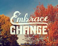 Embrace Change Lettering