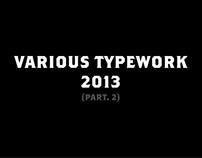 Various Typework 2013 (Part. 2)