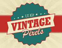 Vintage Pixels User Interface Kit (Free PSD)