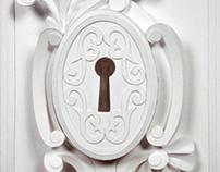 Victorian Keyhole Paper Sculpture