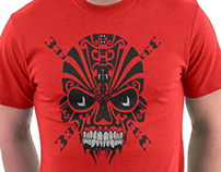 The Devil Inside - Cool Skull Vector T Shirt Design