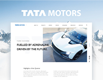 Tatamotors Website Redesign Concept