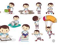 Personaje edición libros infantiles