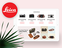 (Non-commercial Concept) Leica E-commerce Website
