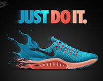 Nike running shoes - Photomanipulation