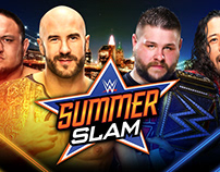 WWE SummerSlam Match Card Set