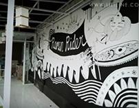 Mural at Ramen Rider
