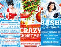 Christmas Celebration Flyer Bundle, PSD Template