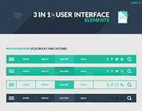 Freebie: 3 in 1 User Interface Elements Kit Part 1