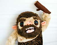 Friendly Caveman, soft art toy