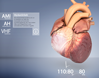interactive 3d heart animation