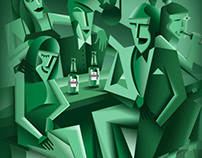 Heineken Illustrative Poster
