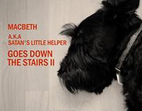 macbeth a.k.a satans little helper goes down the stairs