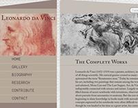 Website Redesign: Leonardoda-Vinci.org
