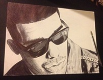Drake Pen Drawing/Video