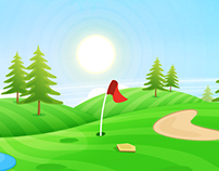 Golf game backgrounds