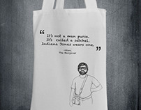 "Tote Bag Design ""It's not a man purse"" -Alan (Hangover)"