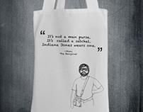 "Tote Bag Design ""It's not a man purse"" -Alan (Hangover)"
