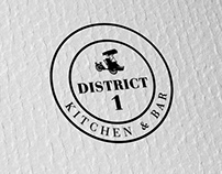 District 1 Kitchen and Bar Logo