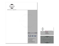3wireSolutions logo, letterhead & business cards