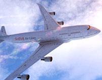 Realistic CG Boeing plane