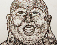 Buddah Etching