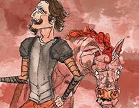 Releitura: Dom Quixote de La Mancha - Aquarela