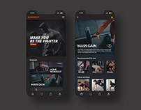 BurnOut - Fitness Web App Design