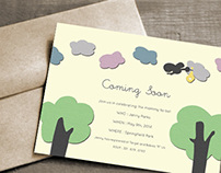 """""""Coming Soon"""" Baby Shower Invite"""