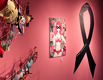 Breast Show Ever, exhibition of hand-decorated bra art