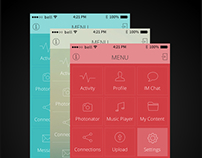 iOS 7 Menu Design