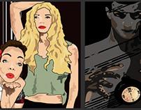 Carteles Hombre/Mujer animación Pasarela