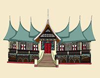 Rumah Adat Gadang (Gadang Tribal House)