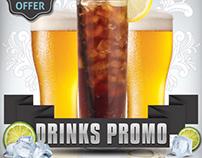 Drinks Promo Flyer Template