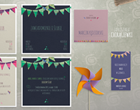 Ajdoo. Wedding invitations. Flags