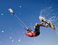 Kitesurfing at The Western Sahara