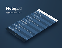 Notepad Application Concept