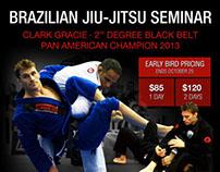 Clark Gracie Seminar Flyer 2013
